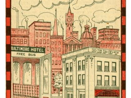 Advertisement, Baltimore Hotel, Los Angeles [cover], California Business Ephemera Collection