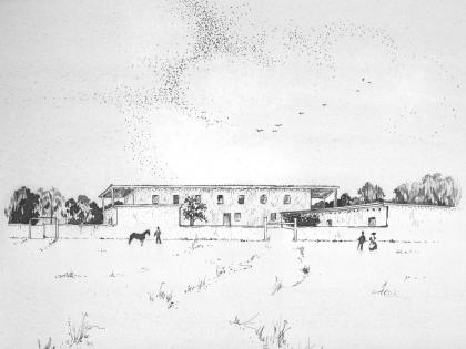 Sketch of RLC ca. 1850, from RLC collection