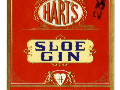Hart's sloe gin, The Alfred Hart Distilleries, Los Angeles, California Wine Label and Ephemera Collection, Kemble Spec Col 07