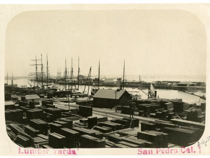 Lumber yards, San Pedro, California Counties Photography Collection
