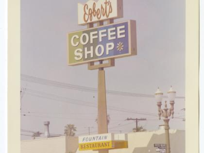 Egbert's Coffee Shop, ca. 1962-1972, Photographs of Business Signs in California Collection, PC 005, California Historical Society