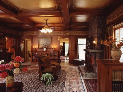 The Lanterman House living room today