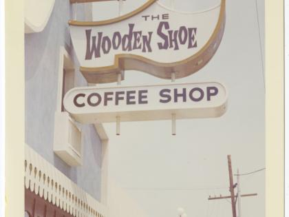 The Wooden Shoe Coffee Shop, ca. 1962 -1972, Photographs of Business Signs in California Collection, PC 005, California Historical Society.